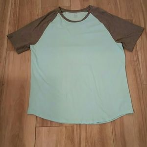 Old Navy, turquoise&grey Soft Wash T Shirt